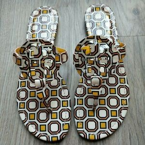 Tory Burch Miller Sandals Retro Octagon
